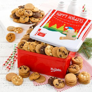 North Pole 102 Nibblers Tin Nut Free Mrs Fields