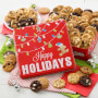 Happy Holiday 60 Nibblers Cookie Tin