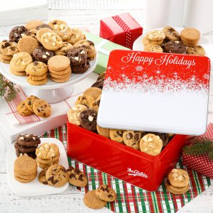 Happy Holidays 102 Nibblers Cookie Tin