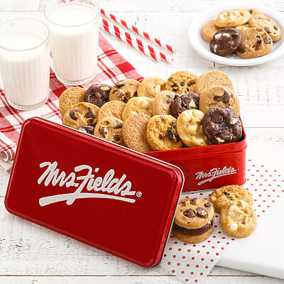 Mrs. Fields 30 Nibblers Signature Tin