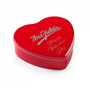 Happy Valentines Day Frosted Heart Tin