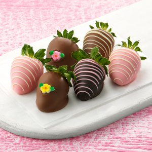 Half Dozen Hand-Dipped Garden Strawberries