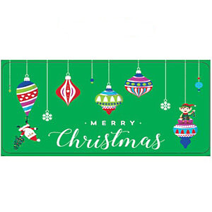 6CT Merry Christmas Ornament Tin - Case of 24