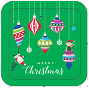 24CT Merry Christmas Ornament Tin - Case of 12
