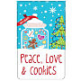 6CT Peace Love Cookies Tin - Case of 24