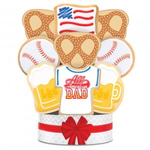 All American Dad Bouquet 6 Cookie