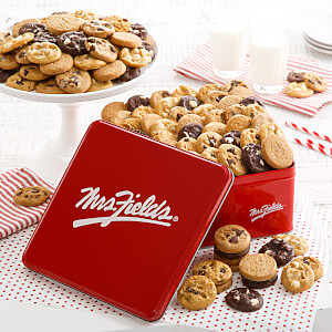 Mrs Fields 90 Nibblers Signature Tin No Nuts