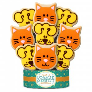 Doggone Purrfect Birthday Bouquet 9 Cookies