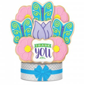 Thank You Butterfly Garden Bouquet 9 Cookies