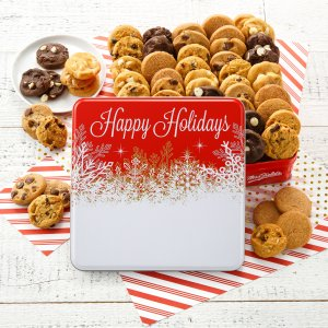 Custom Happy Holidays 60 Nibbler Tin