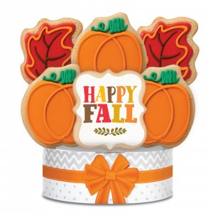 Happy Fall Cookie Bouquet 6 Cookies