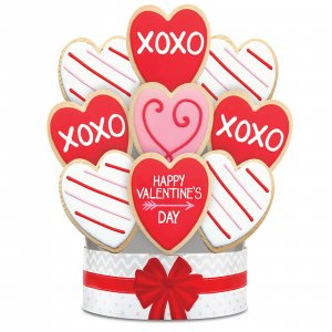 Fancy Hearts 9 Cookie Bouquet