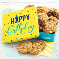 Happy Birthday Signature Cookie Tin