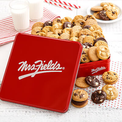 Mrs. Fields 60 Nibblers Signature Tin
